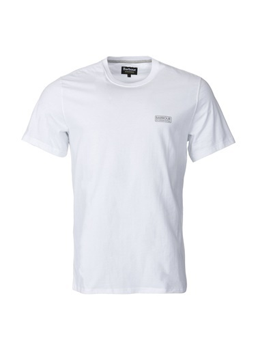 Barbour Small Logo T-Shirt Wh11 White Beyaz